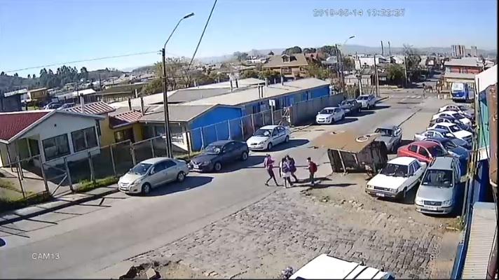 Paradero cae sobre niño en Talcahuano: menor resulta con lesiones
