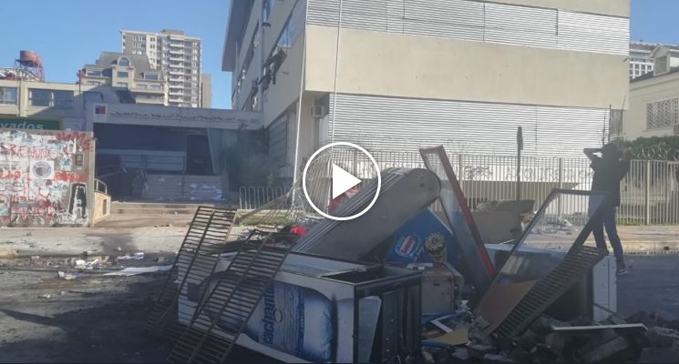 Incendian Seremi de Educación del Bío Bío tras incidentes en centro de Concepción
