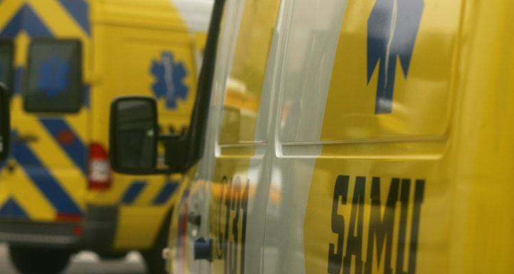 Un lesionado deja colisión de dos vehículos en Concepción: uno de los conductores se dio a la fuga
